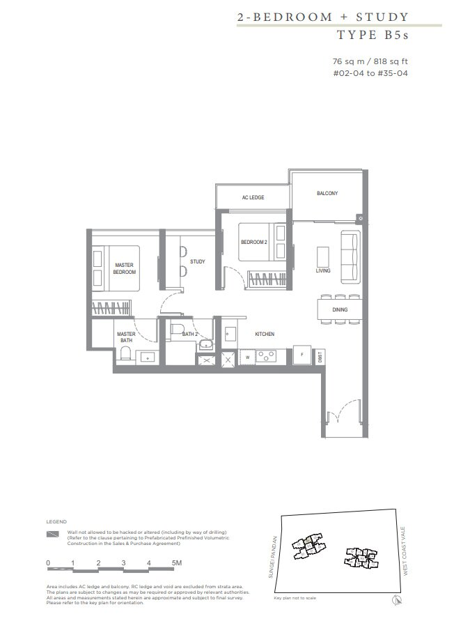 Twin_Vew_Floor_Plan_2_Bedroom_+_S_Type_B5s