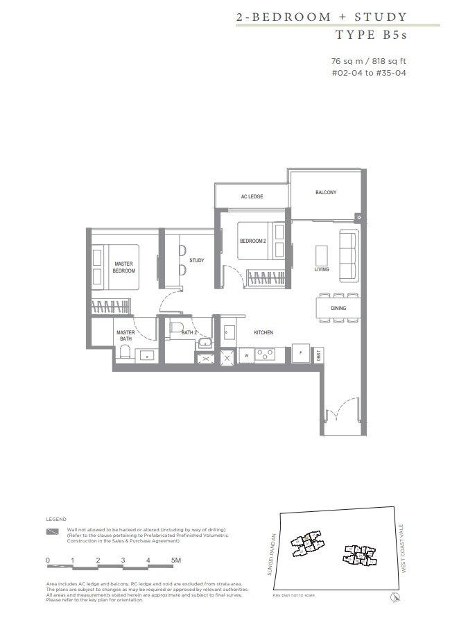 Twin_Vew_Floor_Plan_2_Bedroom_+_S_Type_B5s