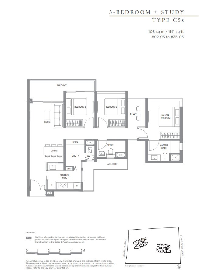 Twin_Vew_Floor_Plan_3_Bedroom_+_S_Type_C5s